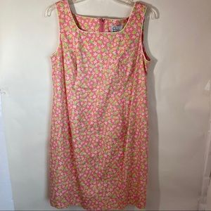 Lilly Pulitzer Small Vintage Pink pineapple dress